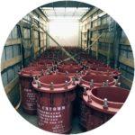 Сальниковый компенсатор магистрального трубопровода 500-25-300